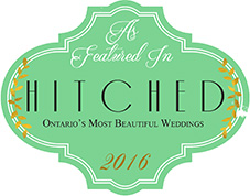 As Featured in Hitched Ontario's Most Beautiful Weddings 2016